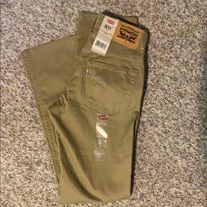 Boys Levi's 511 pants Size 14 reg or 27x27 NWT